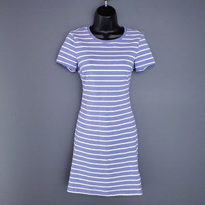 OLD NAVY Casual Dress Stipes Blue White Fitted S